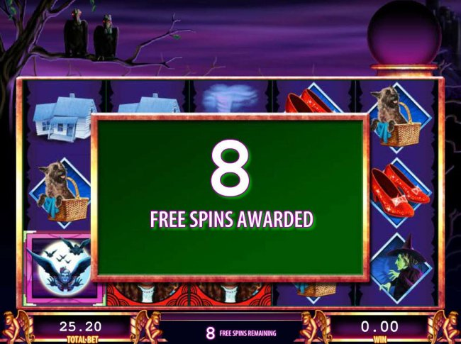 8 Free spins awarded. by Free Slots 247