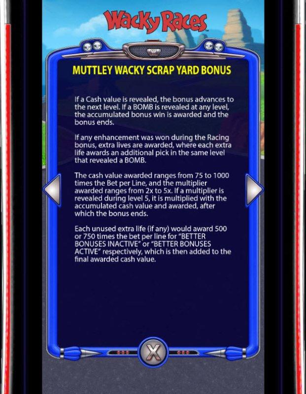 Mutley Wacky Scrap Yard Bonus - Free Slots 247