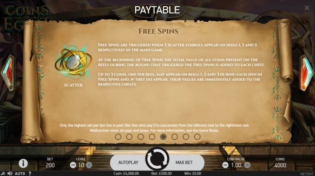 Free Slots 247 image of Coins of Egypt