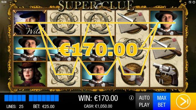 Multiple winning paylines triggers a big win - Free Slots 247