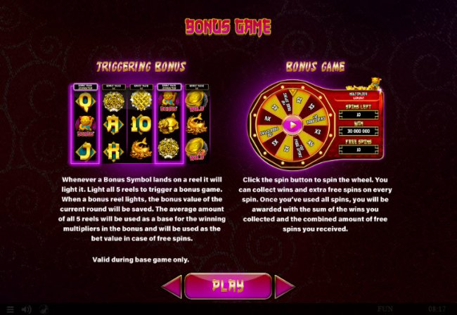 Free Slots 247 - Bonus Game Rules