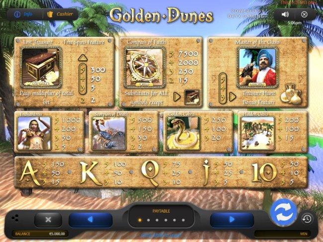 Golden Dunes screenshot