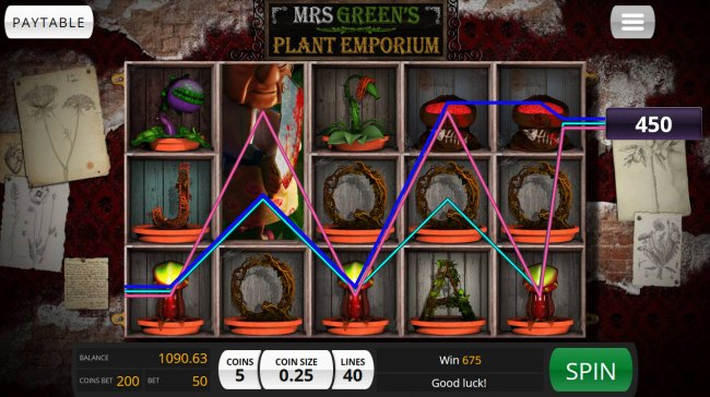 Mrs. Green's Plant Emporium by Free Slots 247