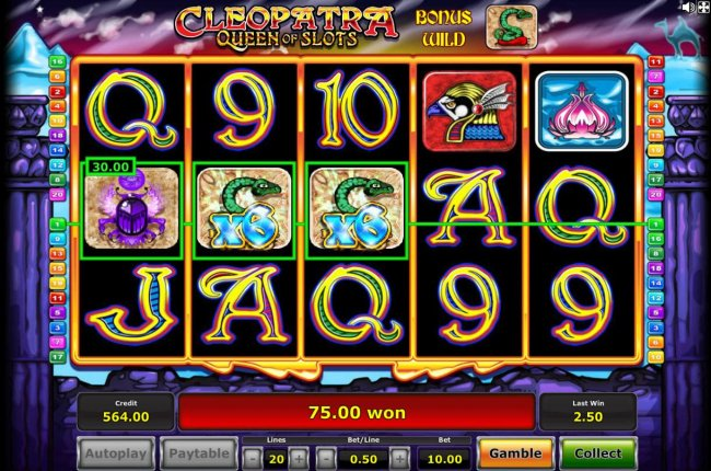 Images of Cleopatra Queen of Slots