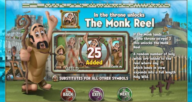 Free Slots 247 - Landing a Monk in the throne unlocks the Monk Reel.