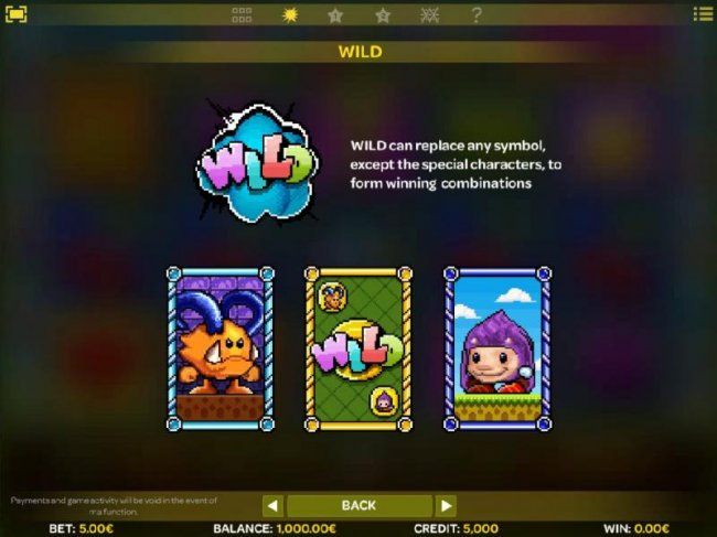 Wild can replace any symbol, except the special charaters, to form winning combinations. - Free Slots 247