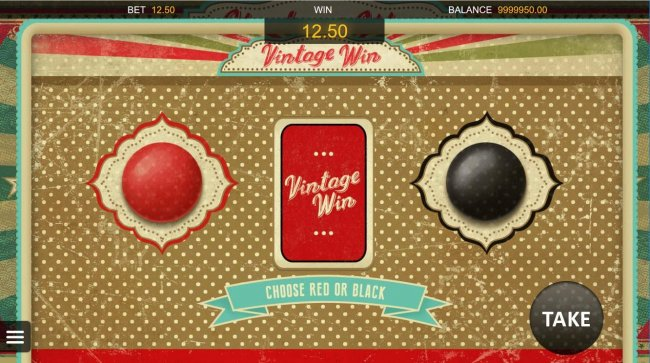 Gamble Feature - To gamble any win press Gamble then select Red or Black. - Free Slots 247