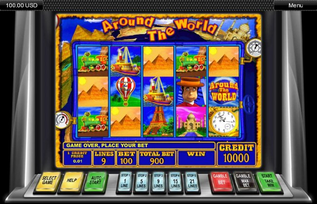 Main game board featuring five reels and 21 paylines with a $11,200 max payout by Free Slots 247