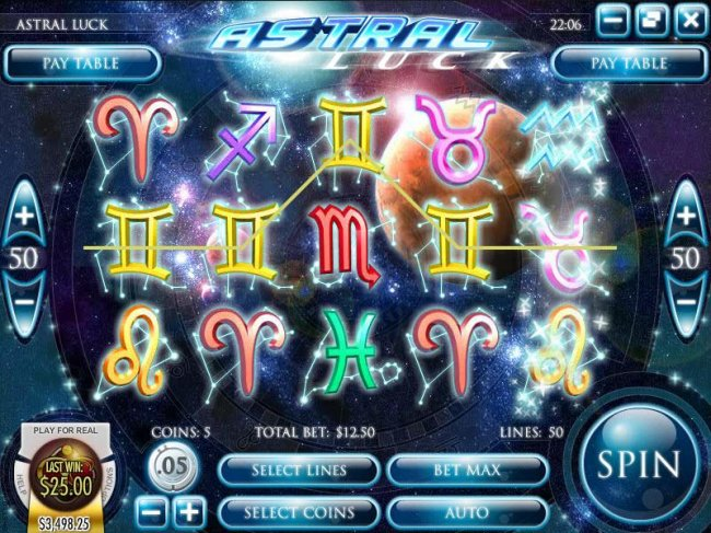 four of a kind triggers a $25 payout by Free Slots 247