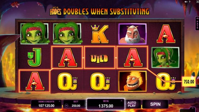 Free Slots 247 - Multiple winning paylines triggers a 1375.00 big win!