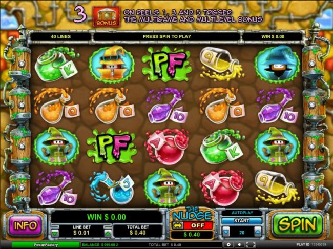 main game board featuring five reels, forty paylines and a $5,000 max payout - Free Slots 247