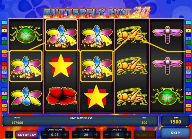 Classic Butterfly Hot 20 by Casino Bonus Lister