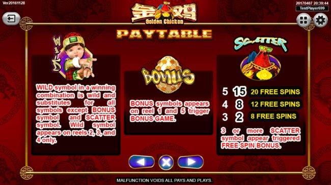 Free Slots 247 - Wild, Bonus and Scatter symbol Rules