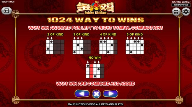 1024 Way to Wins - Ways win awarded for left to right symbol combinations. - Free Slots 247