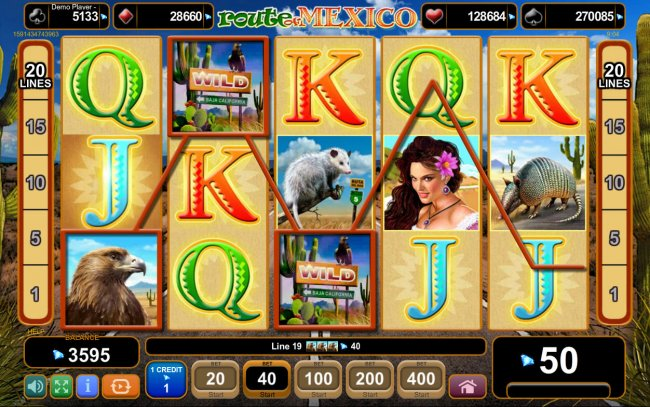 Route of Mexico by Free Slots 247