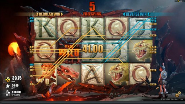 Fixed Wild symbol triggers multiple winning paylines during the freespins feature. - Free Slots 247