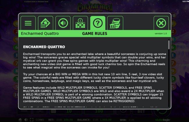 Encharmed Quattro by Free Slots 247
