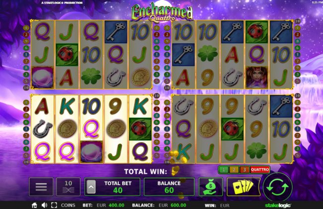 You can play 1 to 4 games at the same time - Free Slots 247