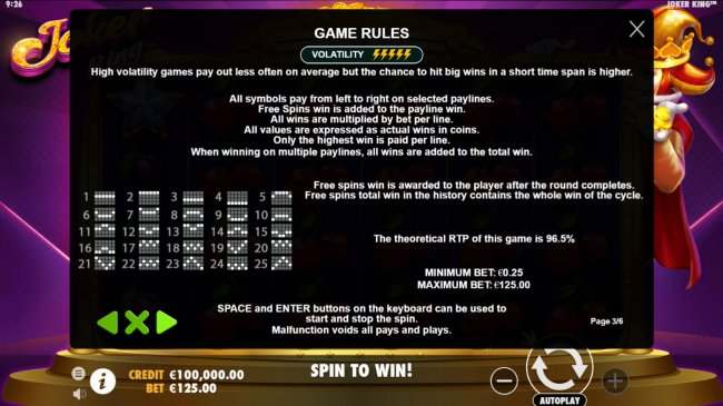 General Game Rules - Free Slots 247