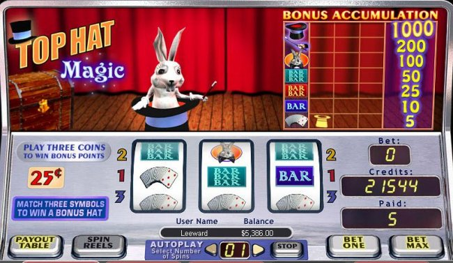 Top Hat Magic by Free Slots 247