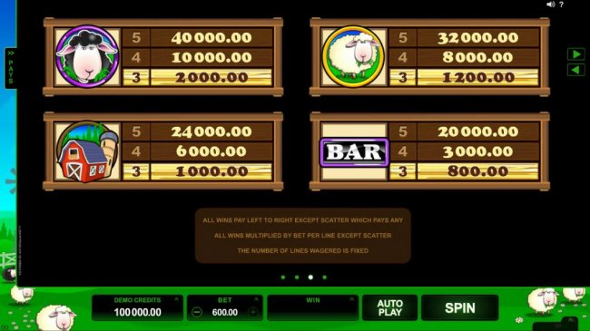 Bar Bar Black Sheep 5 Reels screenshot
