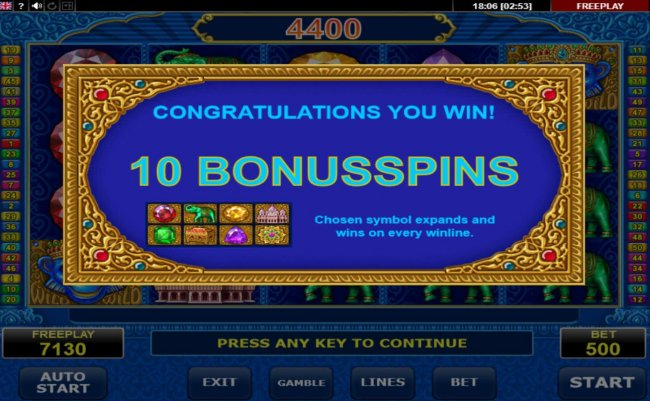10 Free Spins Awarded - Free Slots 247
