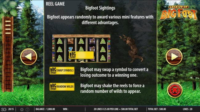 The Legend of Big Foot by Free Slots 247