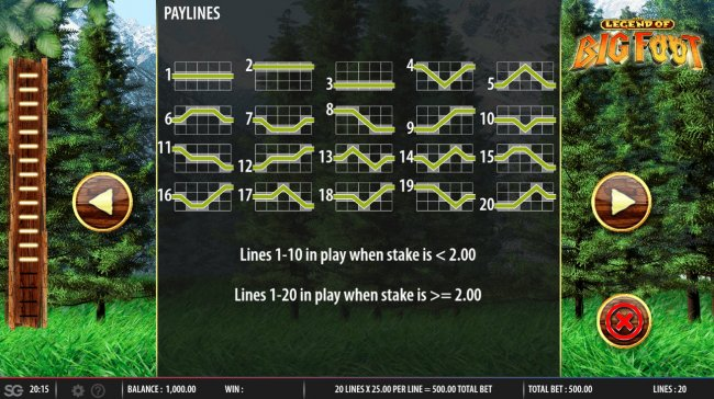 Paylines 1-20 by Free Slots 247