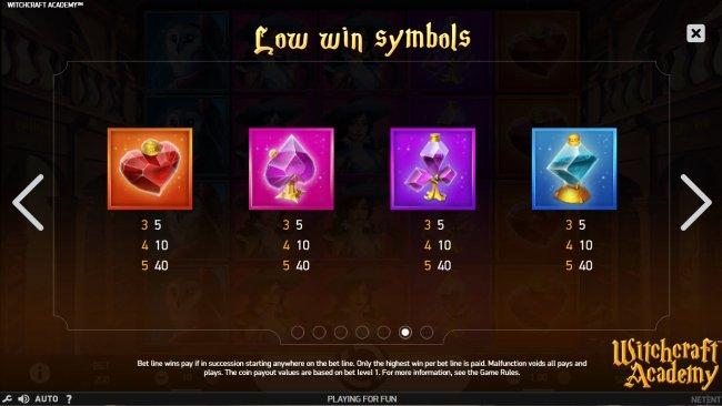 Low Value Symbols - Free Slots 247