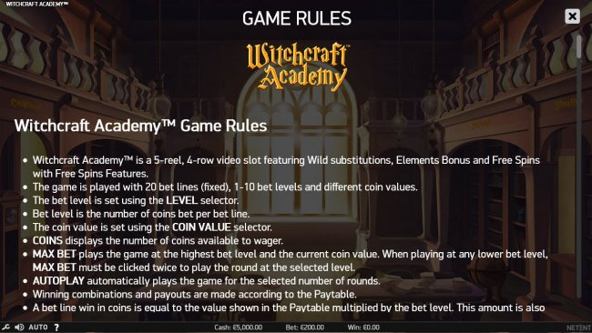 Free Slots 247 image of Witchcraft Academy