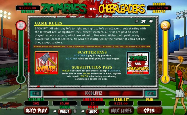 Zombies vs Cheerleaders screenshot