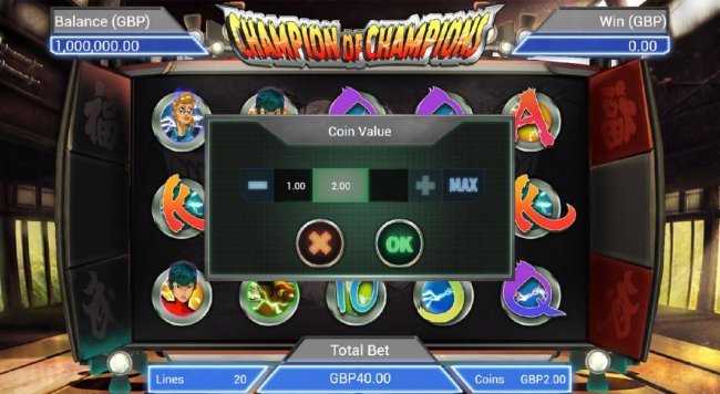 The bet level can be easliy adjusted by clicking on the bet and using the plus or minus buttons to select an appropriate bet level that suits your playing style. by Free Slots 247