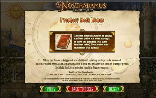 prophecy book bonus feature rules by Free Slots 247
