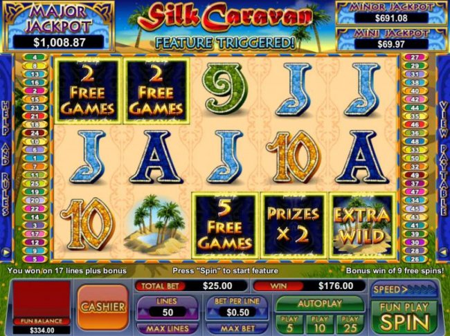 free games feature triggered - Free Slots 247