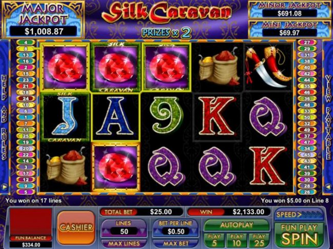 Free Slots 247 - another big win triggered by multiple winning paylines