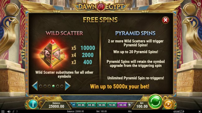 Free Slots 247 image of Dawn of Egypt