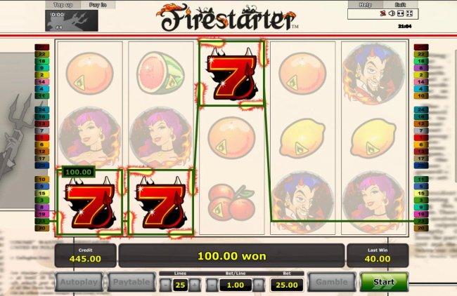 A winning Three of a Kind triggers a 100.00 payout. by Free Slots 247