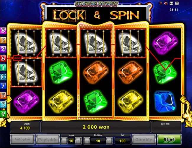 Lock and spin feature triggers multiple winning paylines and a 2000 coin payout. by Free Slots 247