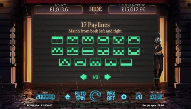 Paylines 1-17 - Free Slots 247