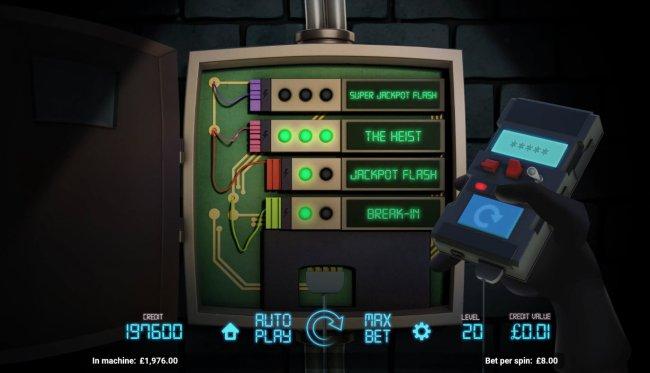 Free Slots 247 - The Heist bonus game triggered
