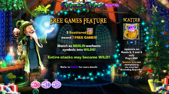 Merlin's Magic Respins Christmas screenshot