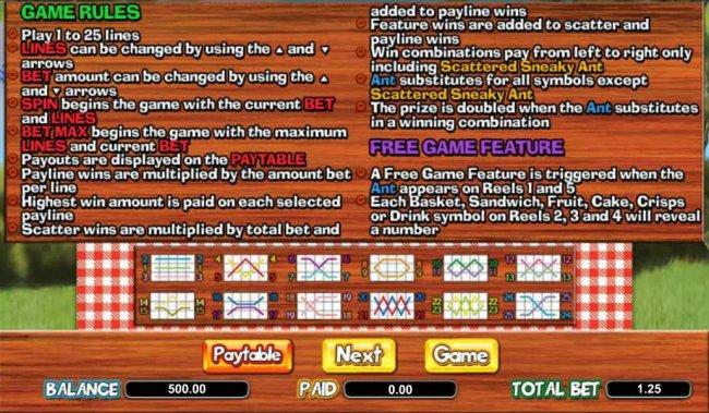 Picnic Panic by Free Slots 247