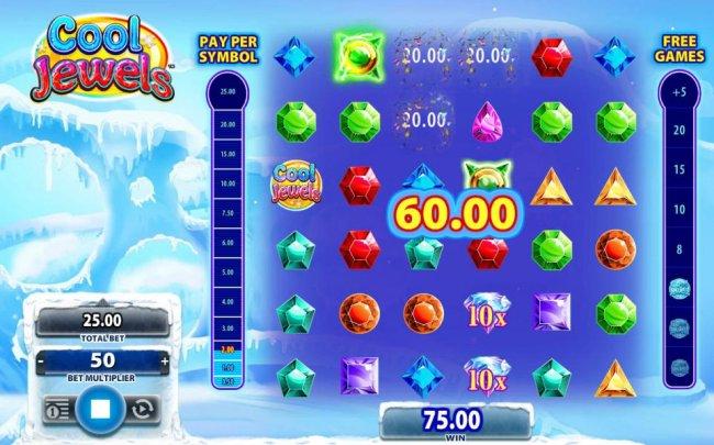 Free Slots 247 - Matching symbols triggers a 60.00 winning combination