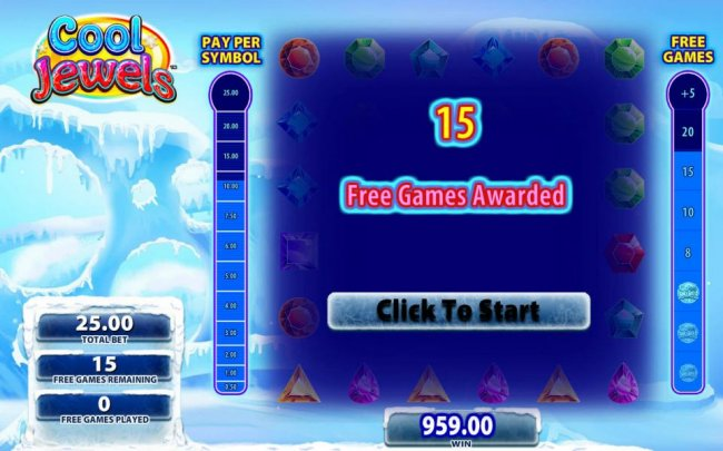 15 free games awarded by Free Slots 247