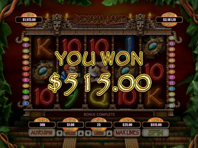 Free Slots 247 image of Indiana Jane and the Golden Toms of Katun