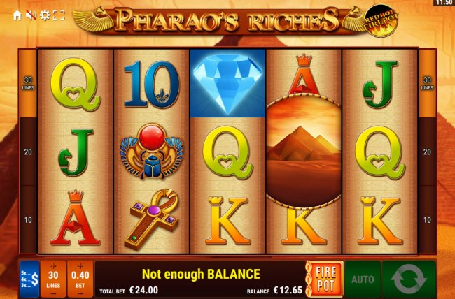 Pharaoh's Riches Red Hot Firepot by Free Slots 247