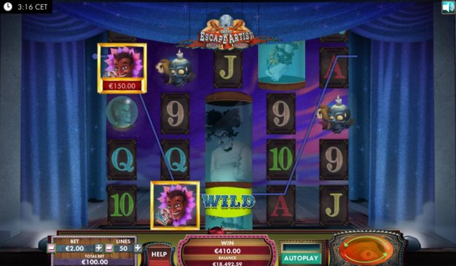 Larry Linguini stacked wild triggers multiple winning combinations by Free Slots 247