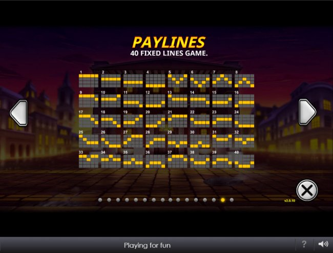 Paylines 1-40 by Free Slots 247