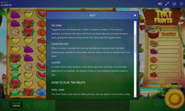 Tiki Fruits by Free Slots 247