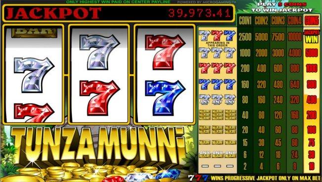 Tunzamunni 3 Reel by Free Slots 247